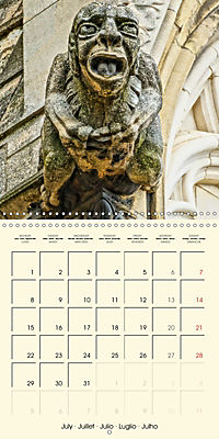 Mysterious creatures Gargoyles and Chimeras (Wall Calendar 2019 300 × 300 mm Square) - Produktdetailbild 7