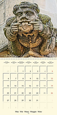 Mysterious creatures Gargoyles and Chimeras (Wall Calendar 2019 300 × 300 mm Square) - Produktdetailbild 5