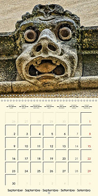 Mysterious creatures Gargoyles and Chimeras (Wall Calendar 2019 300 × 300 mm Square) - Produktdetailbild 9