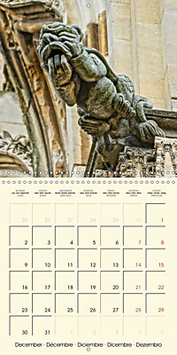 Mysterious creatures Gargoyles and Chimeras (Wall Calendar 2019 300 × 300 mm Square) - Produktdetailbild 12