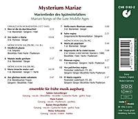 Mysterium Mariae-Marienlieder Des Spätmittelalters - Produktdetailbild 1