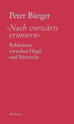 'Nach vorwärts erinnern' - Peter Bürger pdf epub