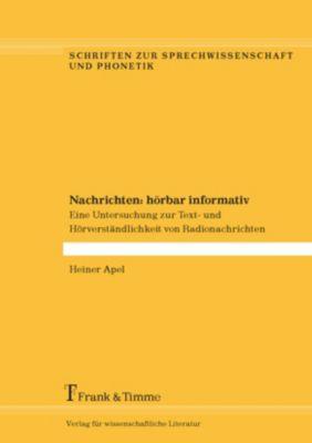 Nachrichten: hörbar informativ, Heiner Apel