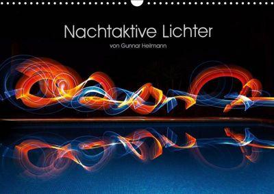 Nachtaktive Lichter (Wandkalender 2019 DIN A3 quer), Gunnar Heilmann