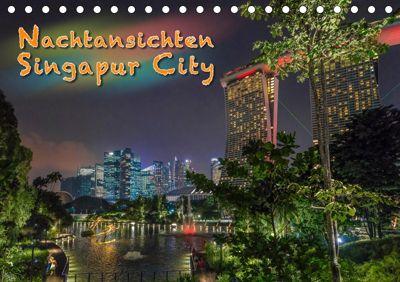 Nachtansichten Singapur City (Tischkalender 2019 DIN A5 quer), Dieter Gödecke