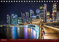 Nachtansichten Singapur City (Tischkalender 2019 DIN A5 quer) - Produktdetailbild 1