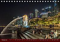 Nachtansichten Singapur City (Tischkalender 2019 DIN A5 quer) - Produktdetailbild 2