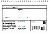 Nachtansichten Singapur City (Tischkalender 2019 DIN A5 quer) - Produktdetailbild 13