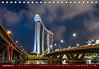 Nachtansichten Singapur City (Tischkalender 2019 DIN A5 quer) - Produktdetailbild 9