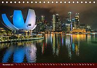 Nachtansichten Singapur City (Tischkalender 2019 DIN A5 quer) - Produktdetailbild 11