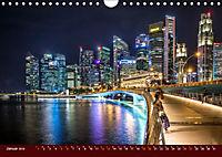 Nachtansichten Singapur City (Wandkalender 2019 DIN A4 quer) - Produktdetailbild 1