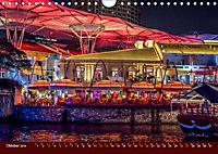 Nachtansichten Singapur City (Wandkalender 2019 DIN A4 quer) - Produktdetailbild 10