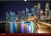 Nachtansichten Singapur City (Wandkalender 2019 DIN A3 quer) - Produktdetailbild 1