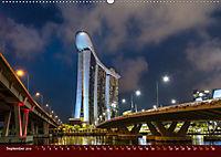 Nachtansichten Singapur City (Wandkalender 2019 DIN A2 quer) - Produktdetailbild 9