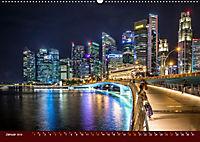 Nachtansichten Singapur City (Wandkalender 2019 DIN A2 quer) - Produktdetailbild 1