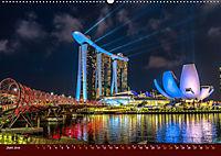 Nachtansichten Singapur City (Wandkalender 2019 DIN A2 quer) - Produktdetailbild 6