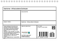 Nashörner - Afrikas seltene Dickhäuter (Tischkalender 2019 DIN A5 quer) - Produktdetailbild 13