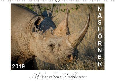 Nashörner - Afrikas seltene Dickhäuter (Wandkalender 2019 DIN A2 quer), Irma van der Wiel
