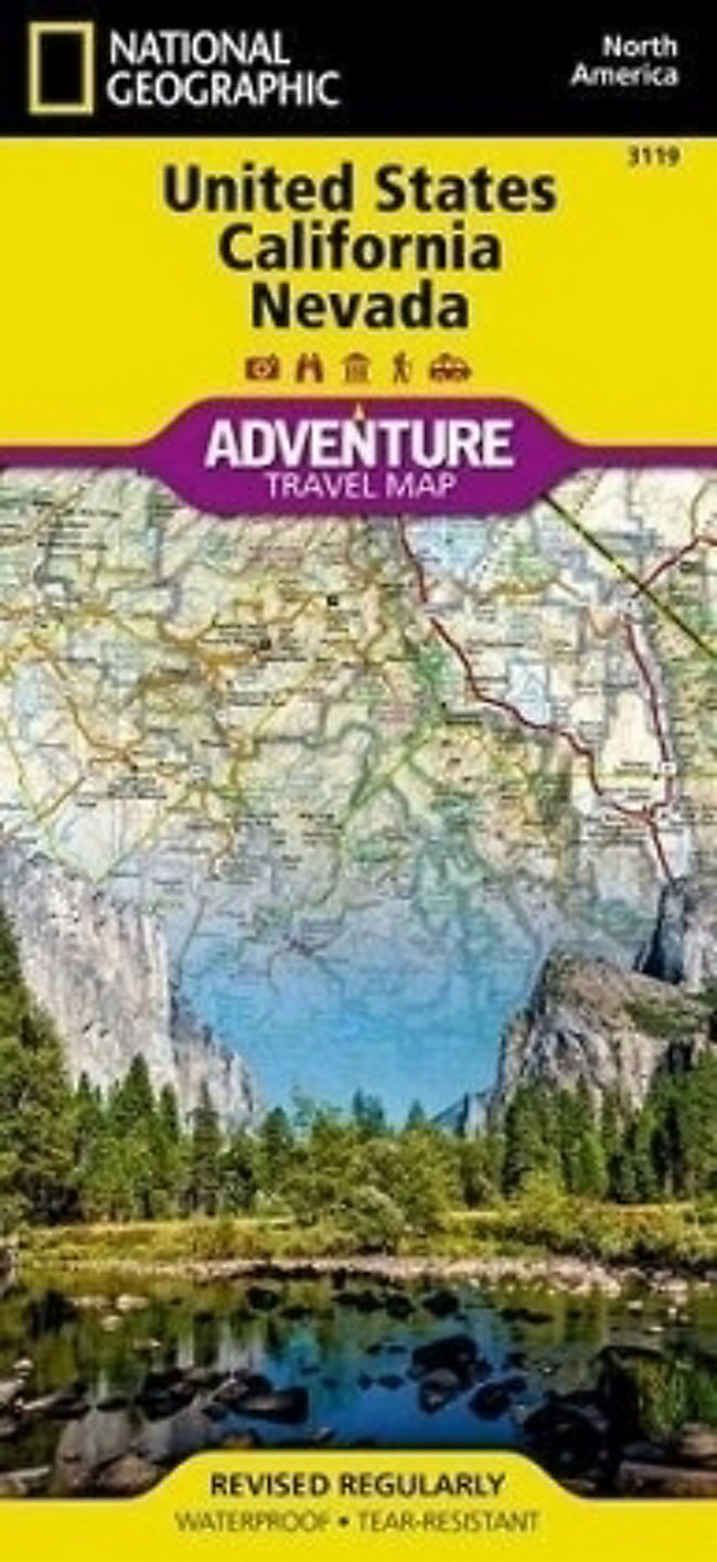 National Geographic Adventure Map United States, Calfornia and ...