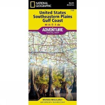 National Geographic Adventure Map United States, Southeastern Plains & Gulf Coast