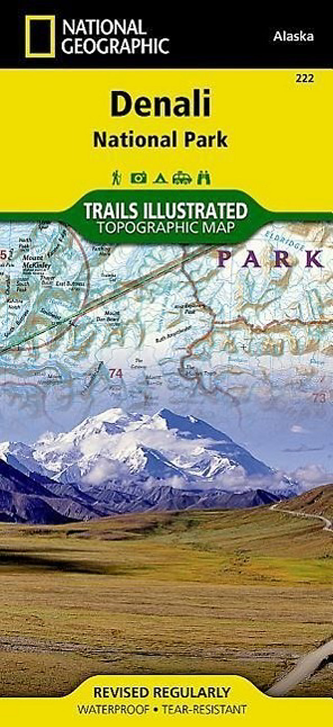 National Geographic Trails Illustrated Map Denali National Park ...