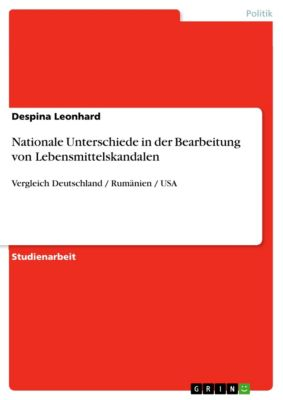 Nationale Unterschiede in der Bearbeitung von Lebensmittelskandalen, Despina Leonhard
