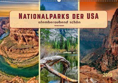 Nationalparks der USA - atemberaubend schön (Wandkalender 2019 DIN A2 quer), Peter Roder
