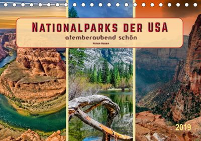 Nationalparks der USA - atemberaubend schön (Tischkalender 2019 DIN A5 quer), Peter Roder