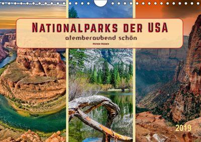Nationalparks der USA - atemberaubend schön (Wandkalender 2019 DIN A4 quer), Peter Roder