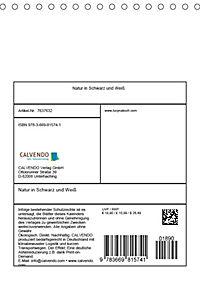 Natur in Schwarz und Weiss (Tischkalender 2019 DIN A5 hoch) - Produktdetailbild 13
