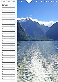 Natur pur in Neuseeland (Wandkalender immerwährend DIN A4 hoch) - Produktdetailbild 1