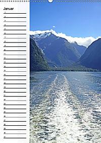 Natur pur in Neuseeland (Wandkalender immerwährend DIN A2 hoch) - Produktdetailbild 1