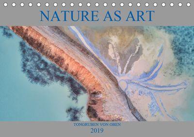 Nature as Art - Tongruben von oben (Tischkalender 2019 DIN A5 quer), Peter Bundrück