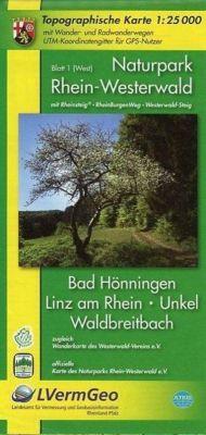 Naturpark Rhein-Westerwald  Blatt 1 (West) 1 : 25 000