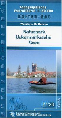 Naturpark Uckermärkische Seen West, Naturpark Uckermärkische Seen Ost / Uckerseen 1 : 50 000