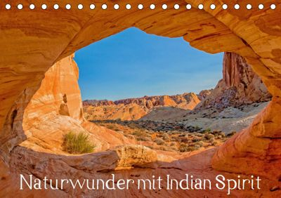 Naturwunder mit Indian Spirit (Tischkalender 2019 DIN A5 quer), Rudolf Wegmann
