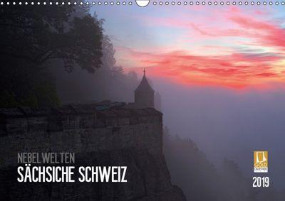 Nebelwelten Sächsische Schweiz (Wandkalender 2019 DIN A3 quer), Dirk Meutzner