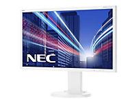 NEC MultiSync E243WMi 60,47cm 23,8Zoll TFT LCD 1920x1080 analog+digital Hoehenverstellbar VESA 1000:1 6ms 250cd weiss - Produktdetailbild 1