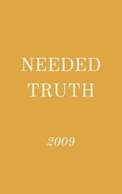 Needed Truth: Needed Truth 2009, Hayes Press