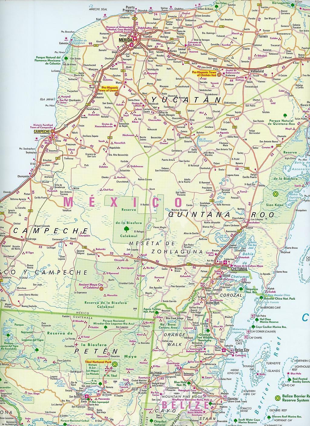 Nelles Map Central America Buch bei Weltbild.de online bestellen