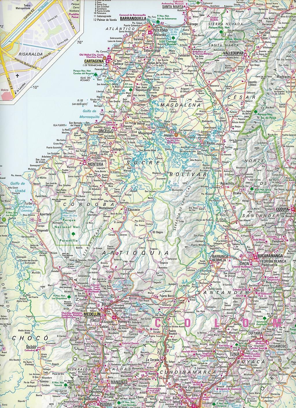 Nelles Map Colombia - Ecuador Buch bei Weltbild.de bestellen