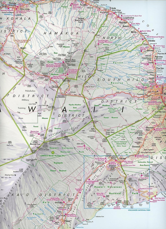 Nelles Map Hawaii, The Big Island Hawaii, Grande Ille Hawái, La Gran ...