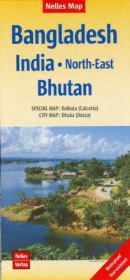 Nelles Map Landkarte Bangladesh; India: North-East; Bhutan
