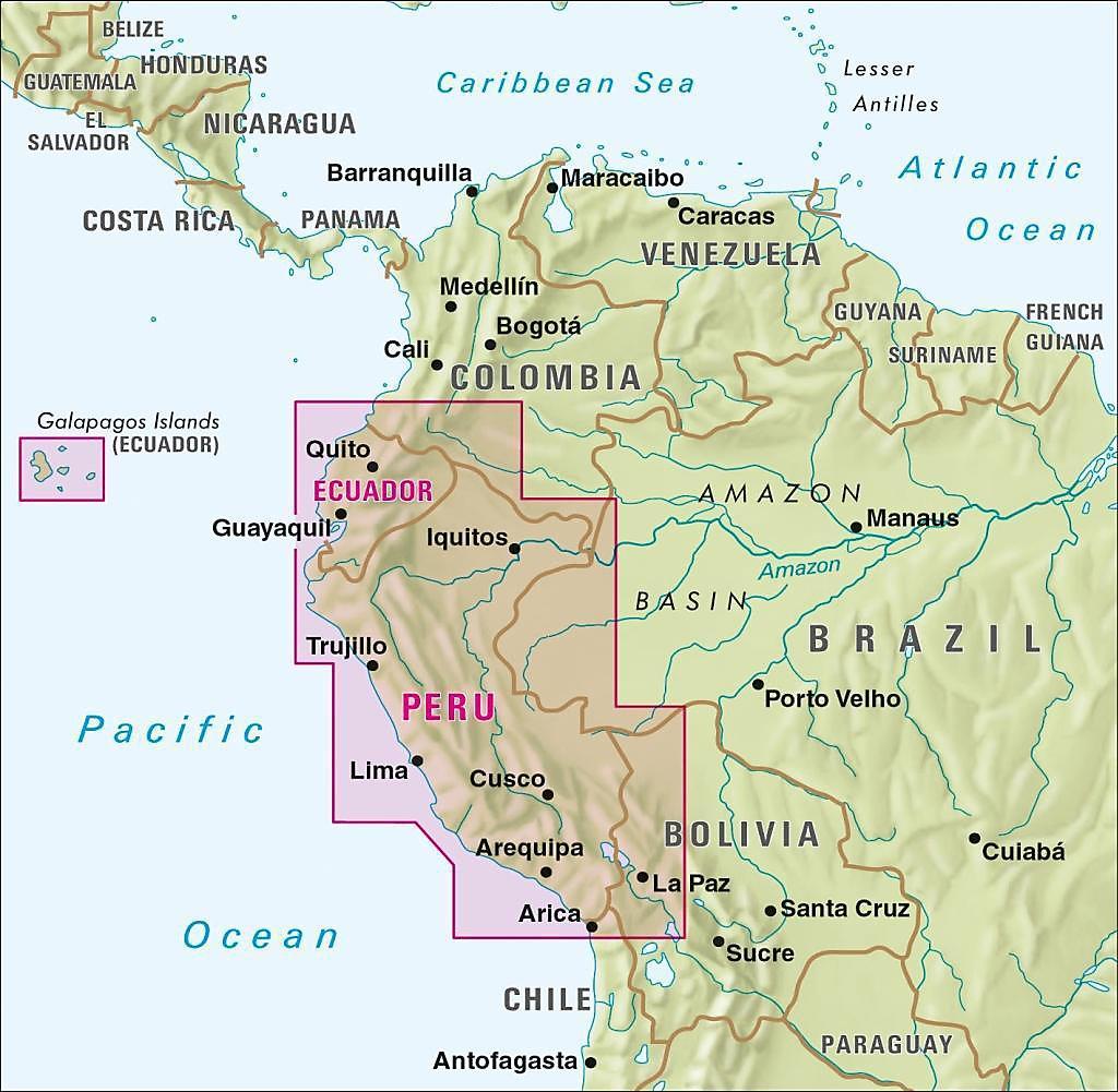 Nelles Map Landkarte Peru - Ecuador Buch bestellen - Weltbild.de