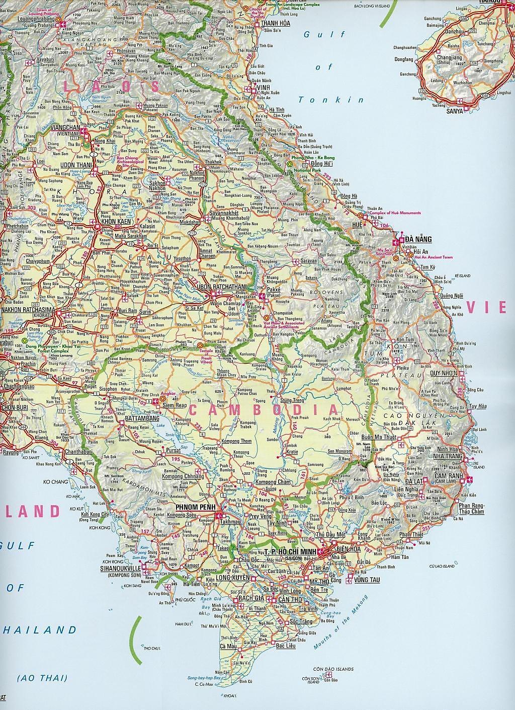 Nelles Maps Southeast Asia, Polyart-Ausgabe Südostasien Asie ...