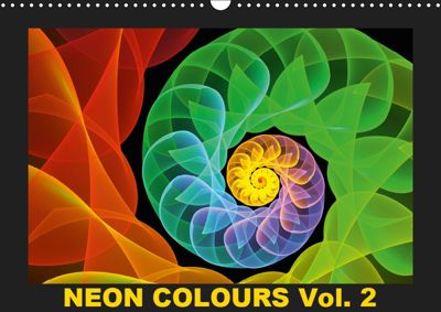 Neon Colours Vol. 2 / UK-Version (Wall Calendar 2019 DIN A3 Landscape), gabiw Art