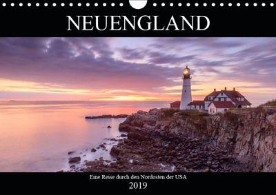 NEUENGLAND - Eine Reise durch den Nordosten der USA (Wandkalender 2019 DIN A4 quer), Christine Büchler & Martin Büchler