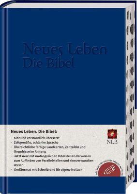 Neues Leben. Die Bibel. NLB - mit Parallelstellen, Schreibrand und Registerstanzung