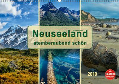 Neuseeland - atemberaubend schön (Wandkalender 2019 DIN A2 quer), Peter Roder