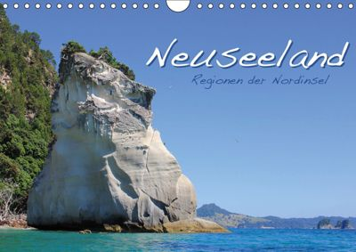 Neuseeland - Regionen der Nordinsel (Wandkalender 2019 DIN A4 quer), Jana Thiem-Eberitsch